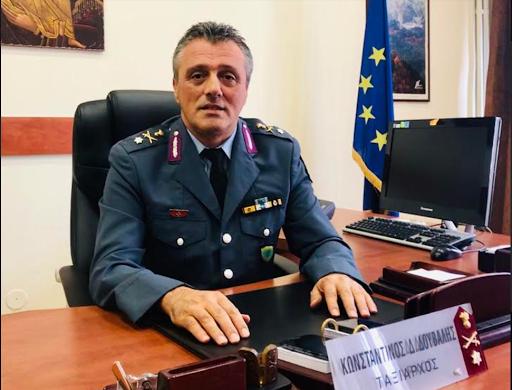 Ευχαριστίες από τον Γενικό Περιφερειακό Αστυνομικό Διευθυντή Ηπείρου Ταξίαρχο Κωνσταντίνο Δούβαλη