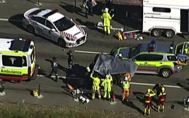 Σοκαριστικές εικόνες από το τροχαίο δυστύχημα 6μελούς οικογένειας που έχασε δύο παιδιά