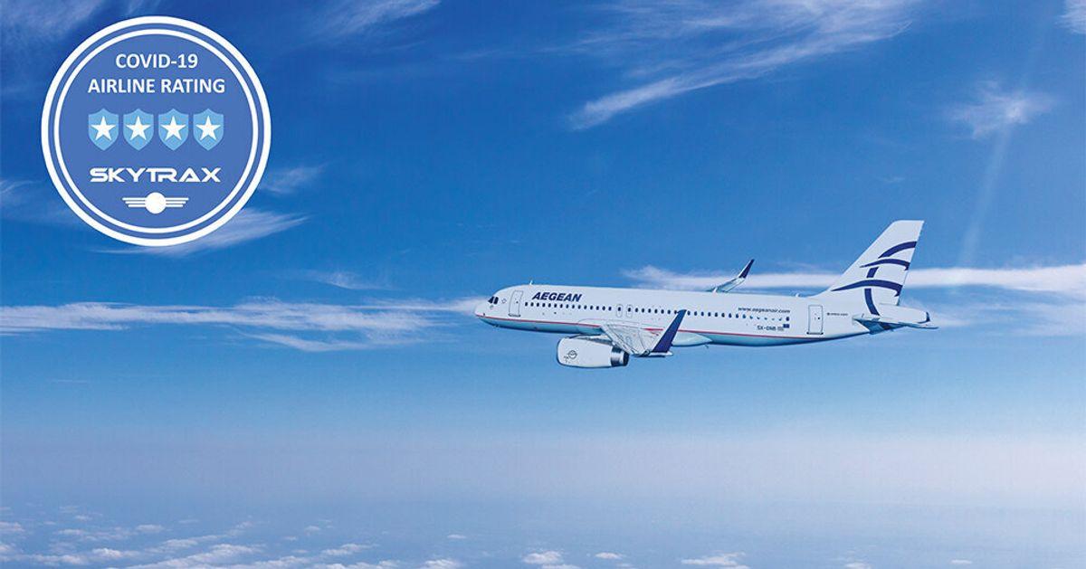 Στις κορυφαίες αεροπορικές παγκοσμίως η Aegean για τα μέτρα COVID-19