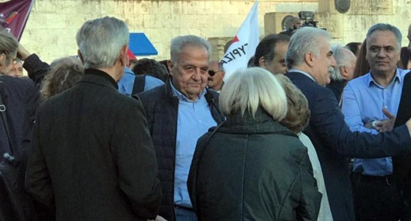 Η βόλτα των Αρχηγών ΕΛ.ΑΣ. και Λιμενικού στη συγκέντρωση ΣΥΡΙΖΑ