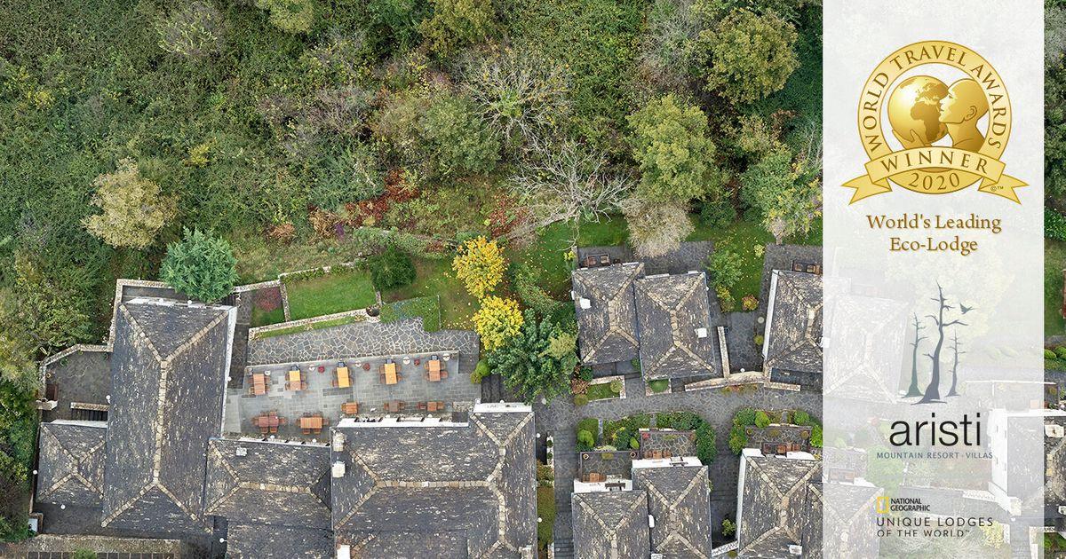 World's Leading Eco-Lodge για 3η φορά το Aristi Mountain Resort & Villas