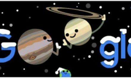 H Google γιορτάζει με Doodle τον χειμώνα και τη μεγάλη σύζευξη Δία – Κρόνου – Newsbeast