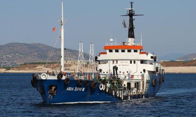 Αγία Ζώνη ΙΙ: Δείτε φωτογραφίες από την ανέλκυση του δεξαμενόπλοιου