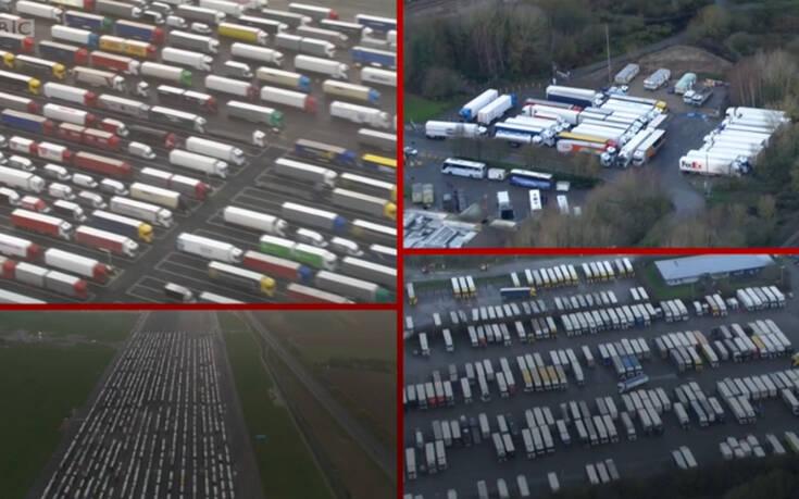 Εγκλωβισμένα 1.500 φορτηγά που θέλουν να φύγουν από τη Βρετανία – Newsbeast