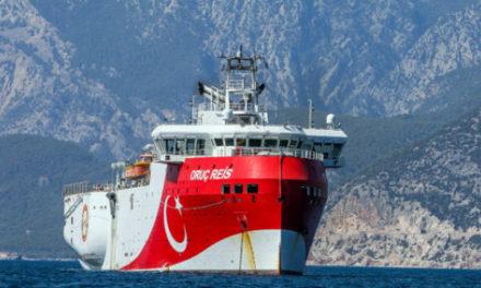 Oruc Reis: Έφτασε στα 6,8 ν.μ. από τη νήσο Στρογγύλη