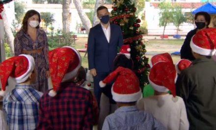 Αλέξης Τσίπρας: Άκουσε τα κάλαντα της Πρωτοχρονιάς από παιδιά του Πρότυπου Εθνικού Νηπιοτροφείου /ΒΙΝΤΕΟ