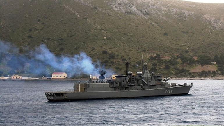 Καστελόριζο: Τουρκική φρεγάτα έστρεψε τα όπλα της κατά ελληνικής