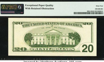 Σπάνιο χαρτονόμισμα 20 δολαρίων έφτασε να αξίζει 57.000 δολάρια χάρη σε ένα λάθος