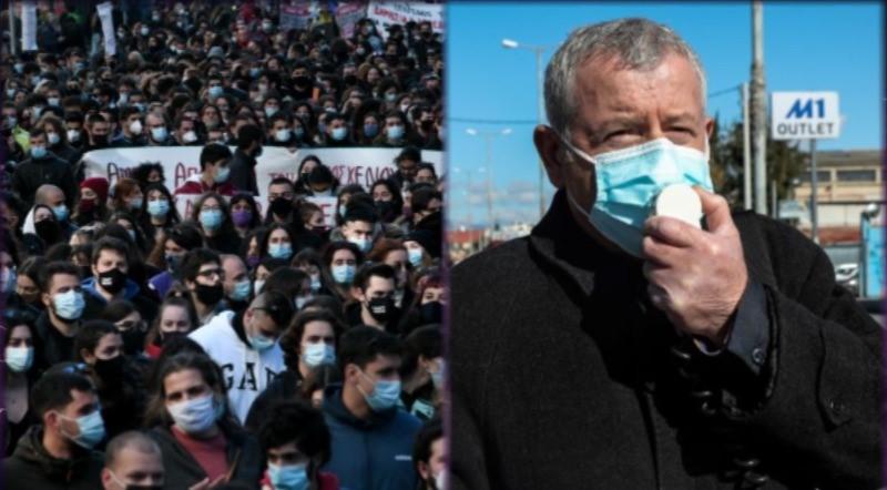 """Δικογραφία από την ΕΛΑΣ για τα πανεκπαιδευτικά συλλαλητήρια που """"βούλιαξαν"""" από κόσμο παρά την απαγόρευση – Πρώτη δίωξη στον πρόεδρο της ΠΟΕΔΗΝ για απείθεια – ΒΙΝΤΕΟ"""