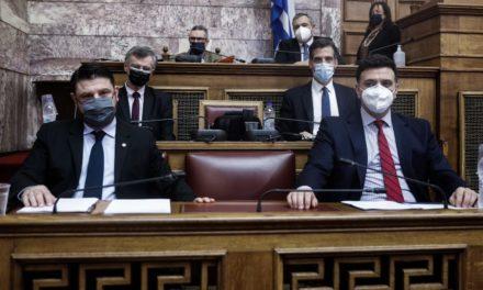 Σε εξέλιξη η ενημέρωση της επιτροπής Θεσμών και Διαφάνειας της Βουλής για τη διαχείριση της πανδημίας