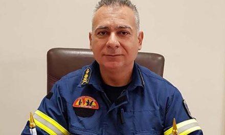 Ο αντιπύραρχος Δ. Γεωργανάς διοικητής της Πυροσβεστικής Υπηρεσίας Καλαμάτας