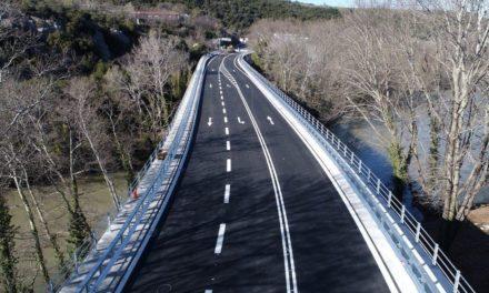 Σε κυκλοφορία η γέφυρα Πηνειού στα Τέμπη