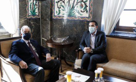 Συνάντηση Τσίπρα με Τασούλα μετά την επιστολή για ζητήματα κοινοβουλευτικής λειτουργίας