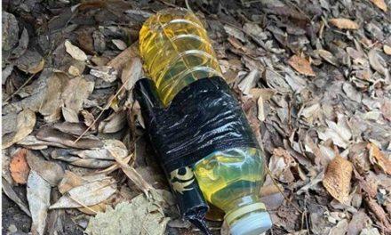 Εκρηκτική βόμβα μολότοφ εντοπίστηκε κάτω από μηχανή αστυνομικού (φωτο)