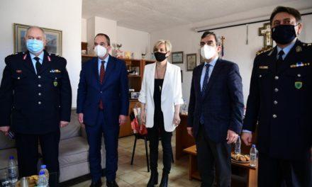 Επίσκεψη Οικονόμου στην Κρήτη: Ενίσχυση του αστυνομικού έργου στο νομό Λασιθίου