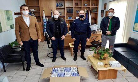 Παράδοση πολυμηχανήματος στο Α.Τ. Πολυγύρου και υγειονομικού υλικού από την Ένωση Αξιωματικών Κ. Μακεδονίας
