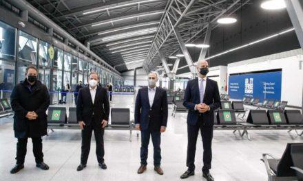Το αεροδρόμιο Μακεδονία επιθεώρησε ο Κώστας Καραμανλής