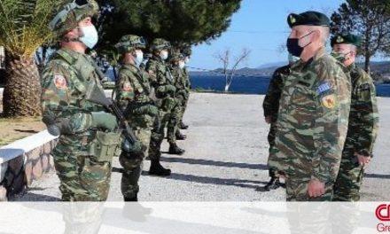 Επίσκεψη του αρχηγού ΓΕΕΘΑ σε φυλάκια και μονάδες των Ενόπλων Δυνάμεων στη Μυτιλήνη