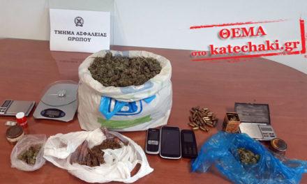 Έφοδος σε σπίτια και δύο συλλήψεις για κατοχή ναρκωτικών