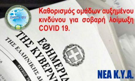 Το αρχηγείο επαναπροσαρμόζει τις διατάξεις για ειδική άδεια για COVID 19