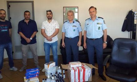 Νέα χορηγία υγειονομικού υλικού στους αστυνομικούς της Ακαρνανίας