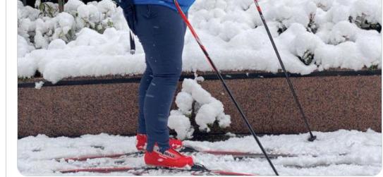 Το χιόνι της Αθήνας δεν είναι πρόβλημα για τους Νορβηγούς …κυκλοφορούν με σκι /ΒΙΝΤΕΟ