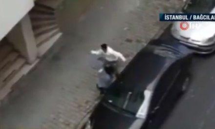 Άνδρας δέρνει την έγκυο σύζυγό του στη μέση του δρόμου – Δείτε το βίντεο