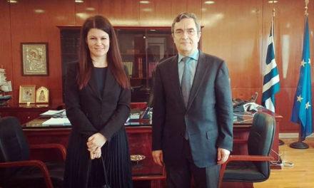 Συνάντηση Λευτέρη Οικονόμου – Ιωάννας Γκελεστάθη για τα ζητήματα της ΕΛ.ΑΣ.