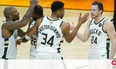 NBA: Μια νίκη μακριά από το πρωτάθλημα οι Μπακς – Μαγικός Γιάννης κόντρα στους Σανς