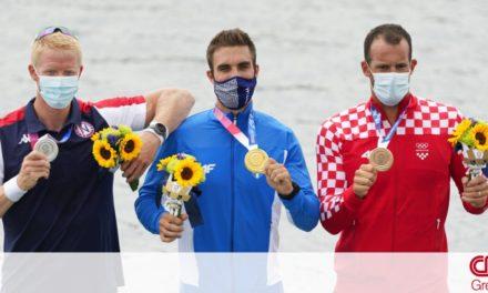 Ολυμπιακοί Αγώνες Τόκιο: Στέφανος Ντούσκος: Η συγκινητική στιγμή της απονομής του χρυσού μεταλλίου