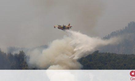 Φωτιά Αττική- Το μήνυμα της Πολεμικής Αεροπορίας: Συνεχίζουμε για όσο χρειαστεί